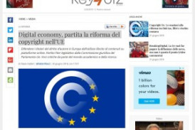 Digital economy, partita la riforma del copyright nell'UE – Estratto da key4biz.it
