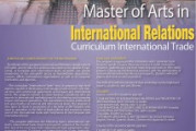 Master of Arts in International Relations