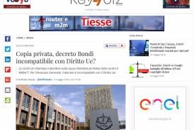 Copia privata, decreto Bondi incompatibile con Diritto Ue? – Estratto da key4biz.it